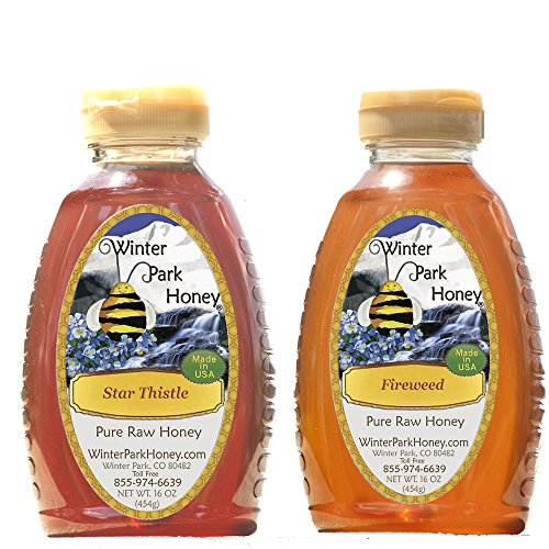 Fireweed Honey & Star Thistle Honey (Pure Natural Raw Honey) 2x16oz