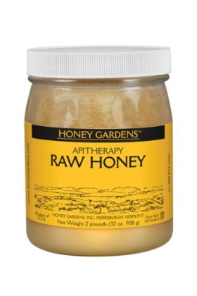 Honey Gardens Raw Honey, 2-Pound Glass Bottle