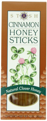 Stash Tea Cinnamon Honey Sticks, 20 Count Sticks (3 Ounces)