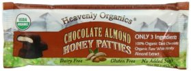 Heavenly Organics, Honey Patties, Chocolate Almond, 1.2 Ounce (Pack of 16)