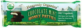 Heavenly Organics, Honey Patties, Chocolate Mint, 1.2 Ounce (Pack of 16)