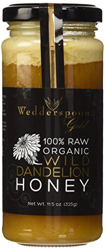 Wedderspoon Organic – 100% Raw Organic Wild Dandelion Honey – 11.46 oz.