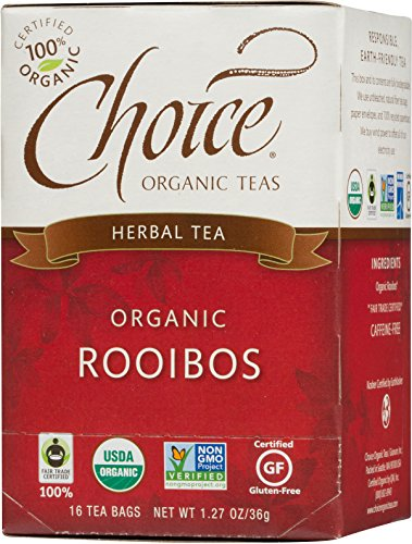 Choice Organic Caffeine Free Rooibos Red Bush Herbal Tea, 16 Count Box