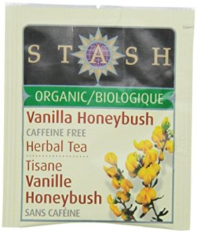 Stash Tea Organic Herbal Tea Bags in Foil, Vanilla Honeybush, 100 Count