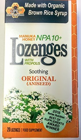 Pacific Resources Original Lozenges, Manuka Honey and Propolis, 20-Count