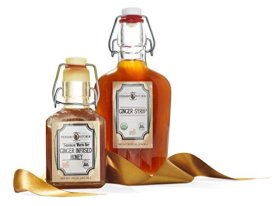 Verdant Kitchen Ginger Syrup and Ginger Infused Honey Gift Set