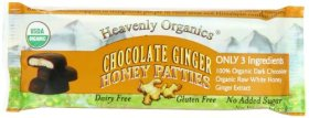 Heavenly Organics, Honey Patties, Chocolate Ginger, 1.2 Ounce (Pack of 16)