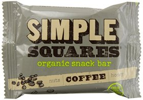 Simple Squares Organic Snack Bar, Coffee, 12 Count