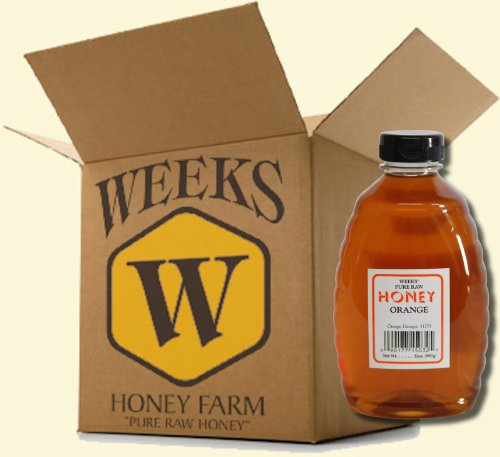 16oz (Case of 6) – Orange Blossom Honey – Pure, Raw, Unfiltered, Unheated