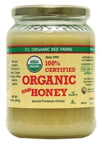 YS Organic Bee Farms CERTIFIED ORGANIC RAW HONEY 100% CERTIFIED ORGANIC HONEY Raw, Unprocessed, Unpasteurized – Kosher 32oz (Pack of 2)