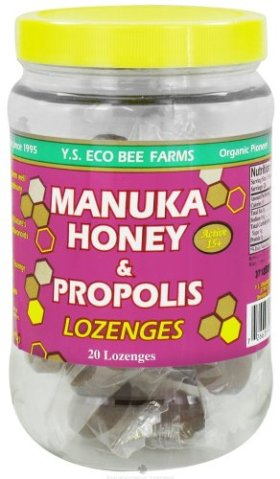 YS Organic Bee Farms – Manuka Honey & Propolis Lozenges – 20 Lozenges