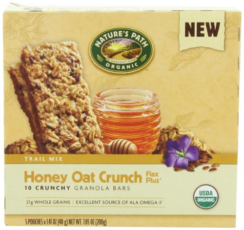 NATURE'S PATH ORGANIC Crunchy Granola Bars, Honey Oat Crunch, 7.05-Ounce (Pack of 6)