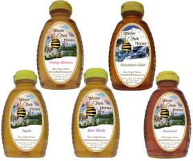 Tea Honey Sampler (Pure Natural Raw Honey) 5x16oz