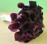 Classic Purple Mini Calla Lily Bridesmaid Bouquet