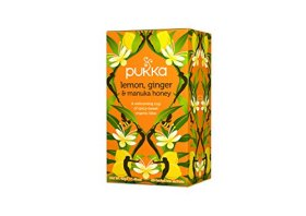 Pukka Organic Tea Caffeine Free, Lemon Ginger and Manuka Honey, 6 Count