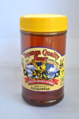 Topanga Quality Honey (Eucalyptus Floral Source) Raw, Unfiltered, Unpasturized, Best Quality, All Natural, Kosher – 1 Pound Each