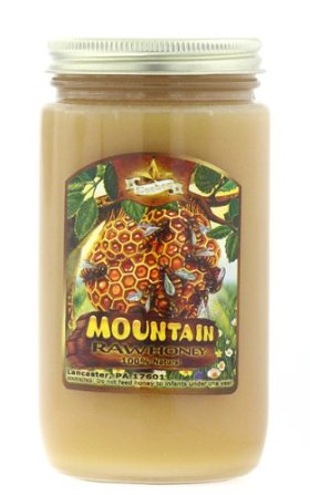 100% Natural Raw Domestic Mountain Honey – Made in USA (Lancaster, PA) 1lb – *Amish Honey*