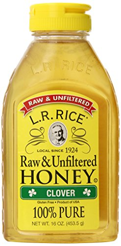 L.R. Rice  100% Pure Unfiltered Clover Honey, 16 Ounce