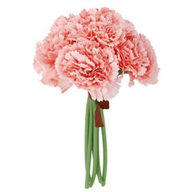 Silk Carnation Bunch Pink for Wedding Home
