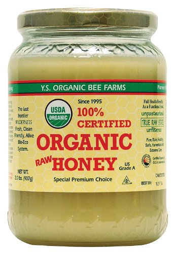 YS Organic Bee Farms Certified Organic Raw Honey 100% Unprocessed, Unpasteurized – Kosher 32oz 2 Lbs Frustration Free Packaging