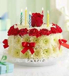 1-800-Flowers – Birthday Flower Cake Bright