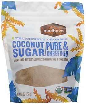 Madhava – Organic Blonde Coconut Sugar, 16 oz crystals [Grocery]