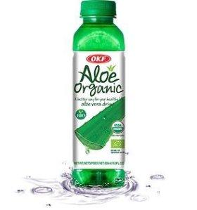 Aloe Vera King 100% Organic Aloe Vera Drink, 16.9-Ounce Bottles (Pack of 20)