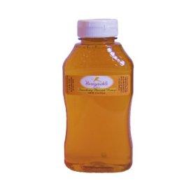 Strawberry Honey – Organically Flavored Raw Honey – Squeeze Bottle (Net Wt 16 oz)