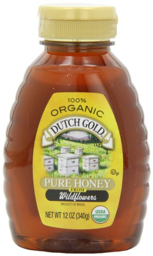Dutch Gold Honey Organic Squeeze, 12-Ounce (Pack of 3)
