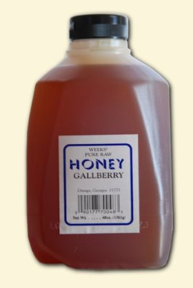 48oz (3lb) – Gallberry Honey – Pure, Raw, Unfiltered, Unheated
