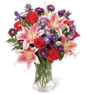 The Stunning Beauty Lily and Rose Bouquet, Premium