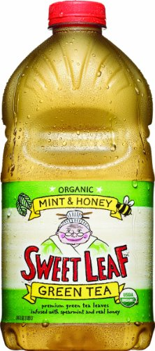 Sweet Leaf Tea, Mint & Honey Green Tea, 64-Ounce Bottles (Pack of 8)