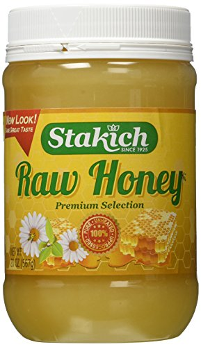 Stakich RAW HONEY 20-OZ, Pure, Unprocessed, Unheated, KOSHER