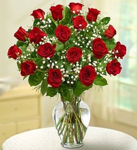 1-800-Flowers – Rose Elegance Premium Long Stem Red Roses – 18 Stem Red Roses