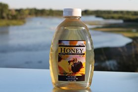 Raw Honey Pure Natural Nebraska Honey One 2lb Jar