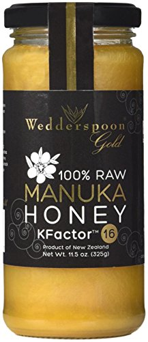 Wedderspoon 100% Raw Manuka Honey – KFactor 16 – 11.5 Ounces