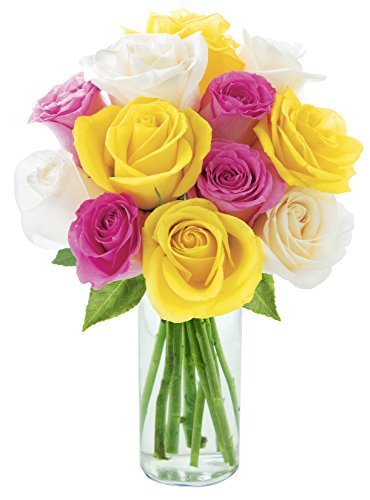 The Rose Palette Bouquet – With Vase
