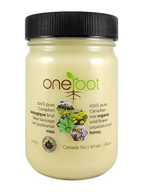 Oneroot Certified Organic 100% Canadian Honey – Raw Wildflower Creamed 17.6oz (500g)
