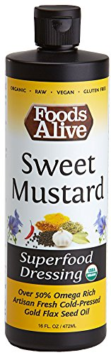 Superfood Dressing, Sweet Mustard, Organic, 16 Ounce