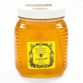Raw Wildflower Honey by the Beekeeper's Daughter – 2.5 lb Jar (2.5 pound)