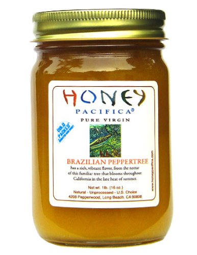 Brazilian Peppertree Raw Honey by Honey Pacifica – Unheated and Unprocessed Honey – Fresh from a California Beekeeper