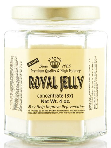 Stakich ROYAL JELLY POWDER 4 oz (112 g) – 3X Concentrate, Premium Quality, High Potency –
