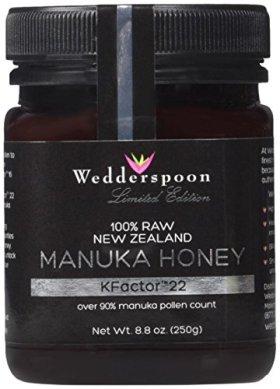 Wedderspoon 100% Raw Premium Manuka Honey 90 KFactor 22 – 8.8 Ounces