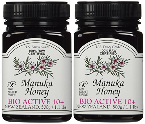 Manuka Honey Bio Active 10+, 1.1 Pound Jar (Package May Vary) (2.2 LB)