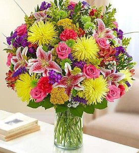 1-800-Flowers – Sincerest Sorrow Bright Arrangement – Large