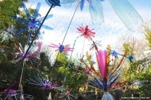 L'oeuvre Flowers of Change à la jardinerie Taffin
