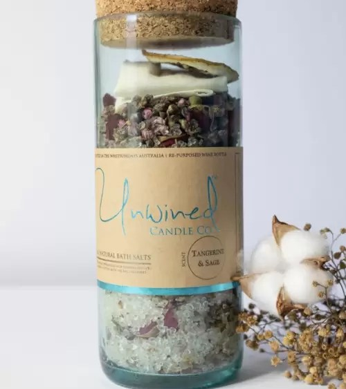Unwined Bath Salts Tangerine & Sage