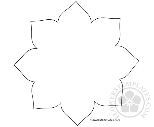 Large Printable Flower template | Flowers Templates