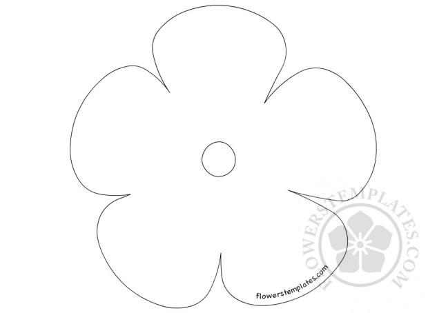 Preschool Flower Template