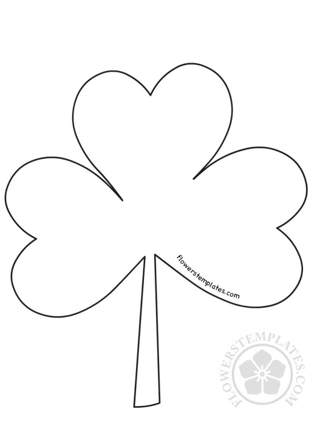 Shamrock Cut Out Template  Flowers Templates